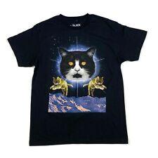 Black Matter Galaxy Space Cats Graphic T-Shirt Men's Size M