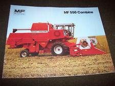 Massey-Ferguson Mf 550 Combine Brochure