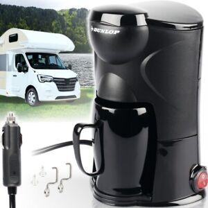 Dunlop® Kaffeemaschine 1 Tasse Kaffeekocher Auto Kaffee Reise KFZ Campingkocher