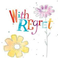 "WITH REGRET CARD ""COLOURFUL FLOWER DESIGN"" SQUARE SIZE 4.75 X 4.75 INCH EFRE172"