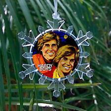 Hardy Boys Snowflake Multi Blinking Light Holiday Christmas Tree Ornament