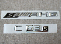1PC Red Metal S Emblem Badge Sticker for Mercedes Benz AMG G63S GLE63S C63S GTS