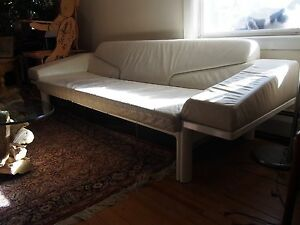 mid century modern large danish Artifort designer couch sofa built in end tables
