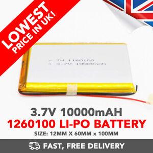 3.7V 10000mAh Li-Po Battery (1260100) Rechargeable High Capacity Tablet PC +PCM6