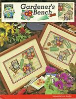 Gardener's Bench Flowers Cross Stitch Pattern Leaflet gardening 2 designs