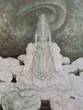 "EDMUND DULAC vintage mounted print, 12 x 10"", fairytale The Snow Queen  ED32"