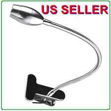 Gooseneck USB SMD LED Portable Reading Light Table Lamp Clip Silver Steel 9001SL