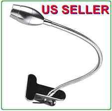 Gooseneck USB SMD LED Portable Reading Light Table Lamp Clip Silver Steel 9001SL