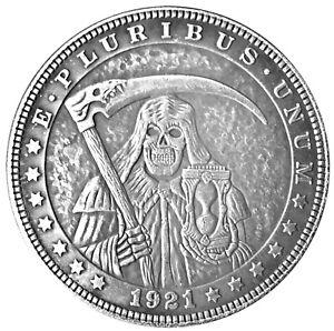 Santa Muerte Novelty V7 Heads Tails Lucky Challenge Coin US SELLER FAST SHIPPING