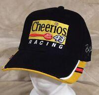 NEW Bobby Labonte #43 Black Cheerios Adult OSFA Strapback Hat NASCAR Petty Cup