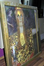 "XXL-Gustav Klimt Jugendstil Leinwand ""ATHENA""100x100x5 Gemälde Bild Ikea Malerei"