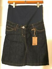 BODEN Maternity Mini Skirt Dark Denim Women's BP028 US 2R 2 Regular  NEW