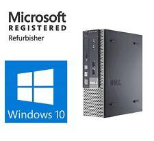DELL Windows 10 Pro Fast Super Slim Desktop Computer PC 3.00gz RAM 8GB WiFi 64