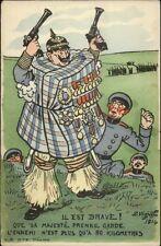 WWI Anti-German Propaganda Satire Brave Kaiser Wrapped in Mattress PC