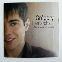 GREGORY LEMARCHAL : DE TEMPS EN TEMPS ♦ CD Single Promo ♦