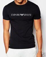 EMPORIO ARMANI -SLIM FIT-- black Men's cotton T-shirt Size M,L,XL,XXL NWT tshirt