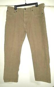 Nice Corduroy 502 Levi Strauss 38 x 28  Pants Tan Cotton Blend