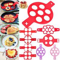 Pancake Maker Silikon Form Backen Eier Flippin Nonstick Pfannkuchen Kuchenform