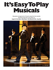 IT'S EASY TO PLAY MUSICALS Piano Sheet Music Book Film Show Tunes Songbook