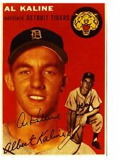 Al Kaline-reprint of autographed enlargement of his 1954 Topps Rookie Card