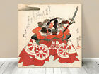 """Stunning Classic Asian Art ~ Kuniyoshi Danjuro Samurai~ CANVAS PRINT 12x12"""""""