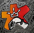 Original Absgraff® by BASHA Snoopy Peanuts Abstract Graffiti Art Canvas Painting