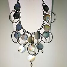 Lia Sophia SEA BREEZE Genuine MOP& Freshwater pearls Hematite Necklace NWT
