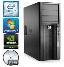 HP Z200 Desktop WorkStation Win 7 PRO Computer Intel Core i7 Quad 8GB RAM 2TB HD