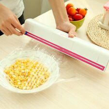 2017 Handy Plastic Kitchen Foil And Cling Film Wrap Dispenser Cutter Storage