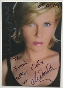 Orig. sign. sexy Autogrammkarte Michaela Schaffrath Gina Wild Schauspielerin 09