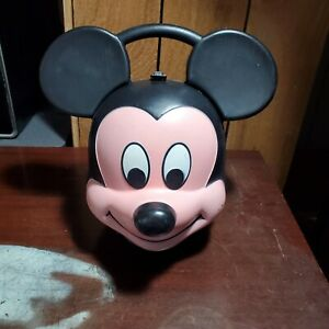 Vintage Aladdin Mickey Mouse Head Lunch Box Disney Made in USA NO THERMOS