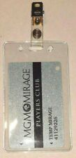 1 Vertical ID Badge Card Plastic Holder With Metal Clip Hunting Fishing License
