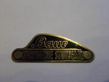 Nameplate BMW Baur sign ID plate