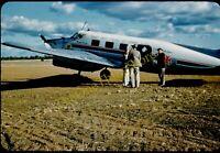 Flying Doctor Service Of Australia Plane 1950s 35mm Slide Vtg Red Kodachrome