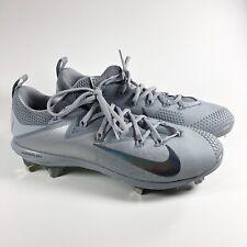 Nike Men's 10 Lunar Vapor Ultrafly Elite Baseball Cleats Gray 852686-001 F13