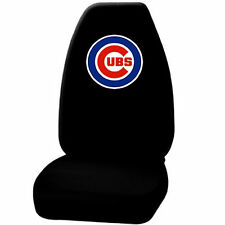 1 pc MLB Chicago Cubs Black Front Highback Seat Cover Universal New