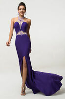 CHEAP MERMAID Evening Party Prom Ball Gown Bridesmaid Split Long FORMAL Dresses