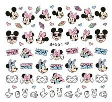 Nail Art Stickers Water Decals Transfers Mickey & Minnie Mouse (M+554)