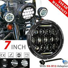 "7""inch Round LED Headlight DRL Hi-Lo DOT Beam for Harley Yamaha Honda Motorcycle"