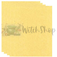Golden Parchment Paper 5ct Wiccan Pagan Witchcraft BOS Spell Writing Supply