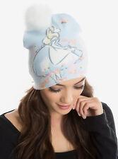 Disney Alice in Wonderland Pom Beanie Sketchy Art Knit Beanie Cap NWT