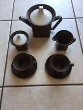 RARE MID CENTURY JOHNSON BROS TROPEZ SQUARE SHAPE LARGE CUPS COFFEE OR TEA SET