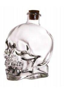 12oz Skull Bottle W/ Cork Spooky Halloween Decor Alcohol Drink Decor
