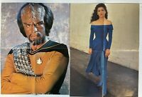 Star Trek The Next Generation Double Sided TV Poster Worf TNG CAST Picard Troi