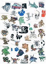 10 x Assorted Boys Temporary Tattoos -  Bulk Party Favours , Stocking Fillers