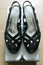 Gabor Ladies Sling Back Ocean Patent Shoes Size 5