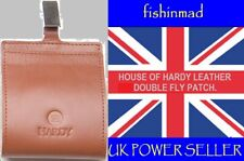 HOUSE OF HARDY LEATHER DOUBLE FLY STORAGE PATCH WALLET FLY FISHING BRAND NEW