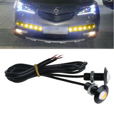 2X Ultra Thin 12V 23mm LED Car DRL Daytime Running Light Eagle Eye Lamp yellow