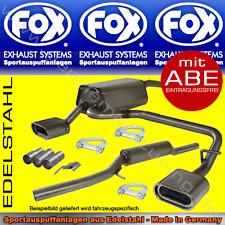 FOX ANLAGE AUSPUFF Duplex Audi A3 Quattro 8L 1,8l T 130x50 R/L