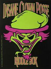 "INSANE CLOWN POSSE AUFKLEBER / STICKER # 4 ""RIDDLE BOX"" - PVC - WETTERFEST"